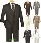 Men's Suit Single Breasted 2 Buttons 2 Piece Classic Fit Solid Colors VINCI 2TR