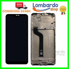 TOUCH SCREEN LCD DISPLAY + FRAME PER XIAOMI MI A2 LITE REDMI 6 PRO NERO