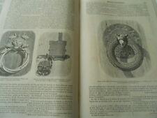 Serrurerie du Moyen Age 1855 Gravure Oldp Print