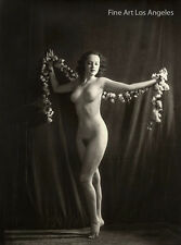 Alfred Cheney Johnston Photo, female figure with flowers, 1937