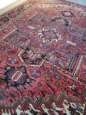 8 x 11.3 Vintage Fine Heriz Rug Antique Serapi Ushak Kazak Caucasian
