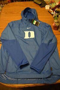Nike mens XL  Duke Blue Devils Coaches On Field Apparel  pullover windbreaker