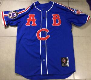 VTG Mens HEADGEAR Negro League Atlanta Black Crackers Sz XL Blue Baseball Jersey