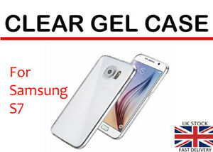For Samsung Galaxy S7 Clear TPU Back Gel Case Cover Skin