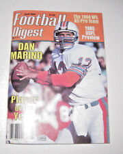April 1985 Football Digest Dan Marino Player of the Year 1984 NFL All Pro Team