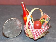 Dollhouse Miniature Picnic Basket Food A  1:12 one Inch scale A24 Dollys Gallery