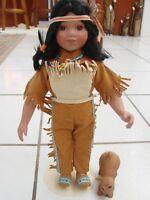 Artaffects Perillo Danbury Mint Little Friend Doll Danbury Native American Boy