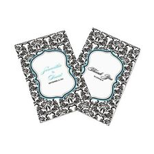 Love Bird Damask Personalized Wedding Programs 24/pk