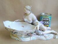MEISSEN PORCELAIN LARGE FIGURE OF WOMAN HOLDING A SWEETMEAT BOWL (Ref5320)