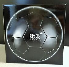 Mont Blanc Parfums Black Latex/Polyurethane Soccer Ball w/Pump Needle- NIB