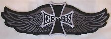 Large Chopper Choppers Wings Bike Motorcycle Biker Embroidered Sew Badge Patch