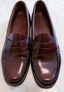 G.H. Bass & Co Men Shoes Weejuns Size 8.5D Logan Penny Loafer Burgundy Wine