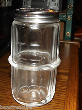 Hoosier cabinet ringed spice jar , Colonial pattern ,  reproduction jar, glass