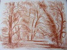 """DIGNIMONT / LITHOGRAPHIE signée """" Parc à l'Isle-Adam """"  38x28 1946 Curiosa"""