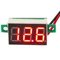 Red LED Voltmeter Ammeter Dual Gauge DC100V 10A Voltage Current Meter Indicator
