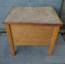 Vintage Ply Wood Storage Box / Hobby Box / Lidded Table