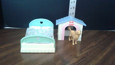 Fisher Price Loving Family 1993 Doll House double bed, dog house& Lab Dog