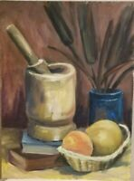 Mid Century Original Oil Painting Frederick A Frederickson Still Life Abstract 3