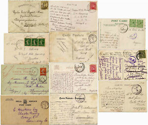 1914 to 1917 WW1 Unoccupied Belgium Covers+Cards+ Military Censors+Stationery et