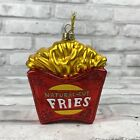 Ashland Natural Cut French Fries Christmas Hand Blown Glass Food Ornament New