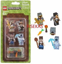 3 Lego Minecraft Skin 853610 28pcs 4 Minifigures Accessories