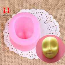 Mysterious Girl Face Silicone Fondant Gum Paste Mold Cake Decorating Clay Moulds