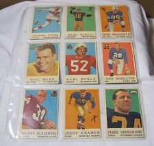 1950's Topps Football Card Lot Jerry Kramer Babe Parilli  & More!  T*
