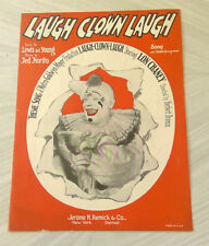 Horrifying LAUGH CLOWN LAUGH Piano Ukelele Guitar Sheet Music MGM 1928 Twisty
