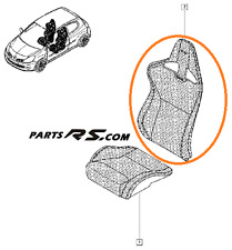 New GENUINE Recaro upper seat fabric cloth Renault Sport Clio III RS 197 200