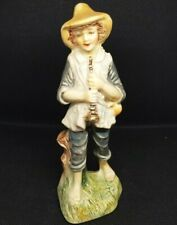 Vtg Atlantic Mold Figurine Shepherd Boy with Horn Nativity MCM 1970's 6.25""