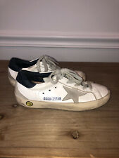 Golden Goose Star Sneakers Kid Size 29 White Leather & Suede Superstar