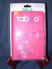 "Tabeo Folio Case & Stand-Pink / 7"" Universal Synthetic Leather China New in Pack"