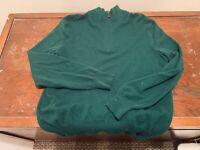 Ralph Lauren Polo Green 1/4-Zip Cashmere Sweater – Men's XL