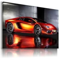 LAMBORGHINI AVENTADOR RED Cars Wall Art Canvas Picture AU480 MATAGA