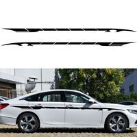 2pcs 350cm Car Side Body Graphics Racing Long Stripe Vinyl Decals Decor Sticker