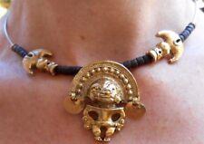 collier doré Mexicain, Maya, reproduction musée