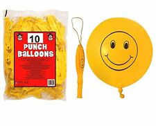 10x Smiley Yellow Punch Ball Balloon Kids Birthday Party Bag Flavors Pinata Toy