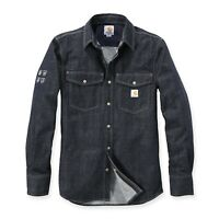Carhartt Herren Hemd Protective Demin Jeanshemd Work Shirt sehr Strapazierfähig