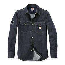 Carhartt Men's Shirt Protective Denim Jeans Shirt Work Shirt Very Durable