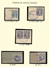 Guatemala: 1894; 1896, 8 fragment, cancellation: Quezaltenango, EBG007