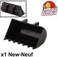 Lego technic - 1x digger bucket godet pelleteuse 8x10 noir/black 2951 NEUF
