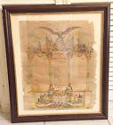 1863 ORIGINAL CIVIL WAR MEMORIAL DOCUMENT CONNECTICUT COMPANY F 21st REGIMENT