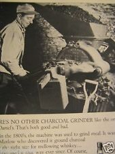 "1968 Jack Daniel's Lem Motlow-Charcoal Grinder Original Print Ad-8.5 x 10.5""-"