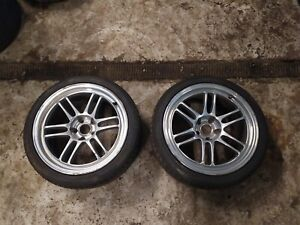 Enkei RPF1 18x10J 5x114.3 Silver Alloy Wheels