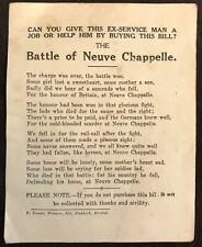More details for wwi ex-serviceman's charity & job seeking handbill c.1918 bristol interest