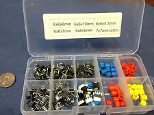 kit set 8 7 6 5 4 3  6 x 6 x 7mm Tactile Push Button Switch red white blue  c1