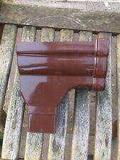 RON2 Brown Floplast Niagara Ogee Gutter Left Hand Stop End Outlet
