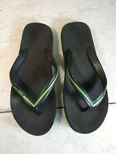 Marc Jacobs Black/Lime Rubber Flip Flop Sandal Shoes Women Size 7