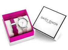 Daisy Dixon Ladies Watch Quadrante Bianco con pietre incastonate & Cinturino Intercambiabile Set Regalo