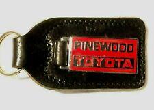Pinewood Toyota Dealers Leather & Enamel Keyring  Thatcham Berkshire